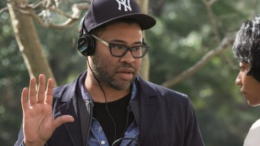 Jordan Peele on the set of Get Out.