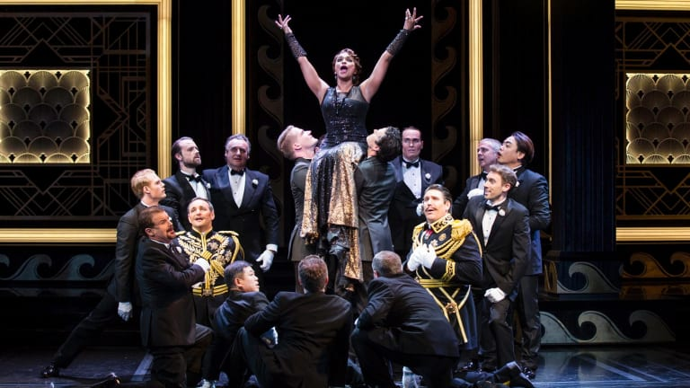 Performers run through the final dress rehearsal of Opera Australia's new production of The Merry Widow.