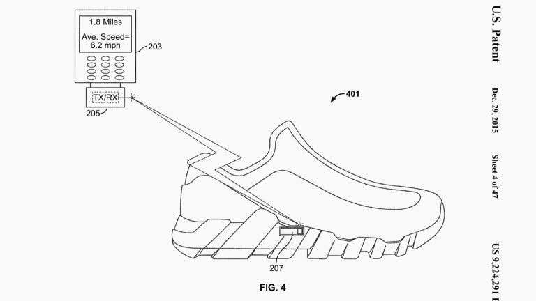 nike granted patent for smart shoe with in