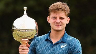 David Goffin of Belgium after winning the Kooyong Classic.