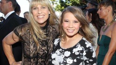 Sued: Terri Irwin with daughter Bindi.