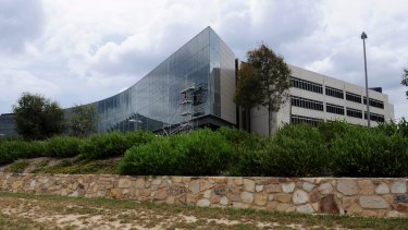 Filling up: The ASIO building on Parkes Way.