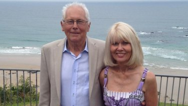 Tony Campbell, pictured with his wife Robyn, died after falling down a ravine at Fox Glacier.
