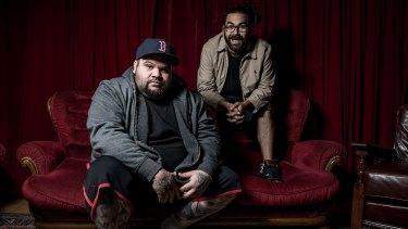 A.B. Original launch of debut album <i>Reclaim Australia</i>: Adam Briggs 'Briggs' (left) and Dan Rankine 'Trials'.