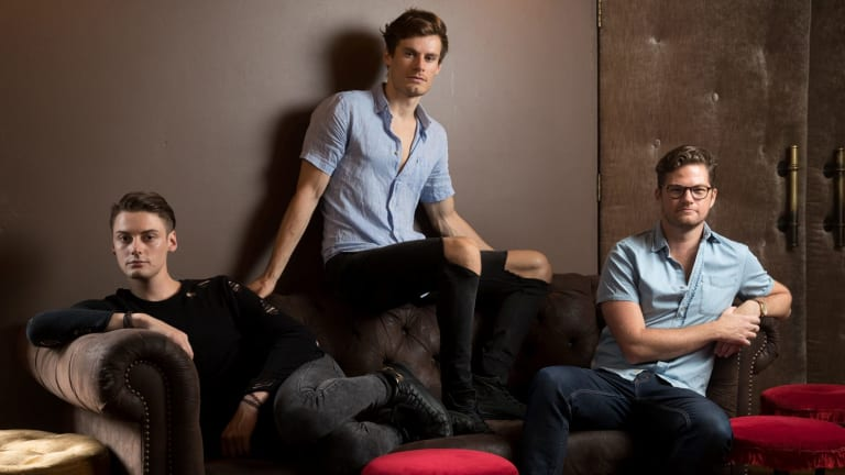 <i>The View UpStairs</i>: (from left)  Actors Henry Brett, Stephen Madsen and director Shaun Rennie.