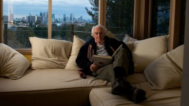 Peter McIntyre in 2012 on the window seat inside his current home. ''You make spaces that make people comfortable.''