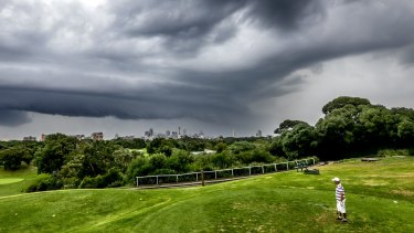 Stormy times at Moore Park golf course? They might be should Clover Moore convince the government and Centennial Park Trust to reduce the course's size to nine holes.
