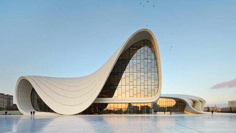 The Heydar Aliyev Centre in Baku, Azerbaijan, designed by Zaha Hadid Architects.