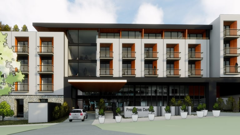 A 102 bed aged care facility is planned for a block of land in Deakin that was occupied by the Margaret Dimoff Art Gallery, formerly known as the Solander Gallery.