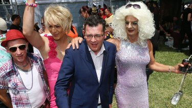 Premier Daniel Andrews at Midsumma Festival in Alexandra Gardens.