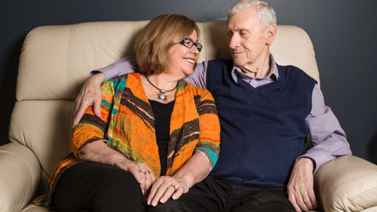 ACT Liberal parliamentarian Steve Doszpot with his wife Maureen Doszpot at his home last week.