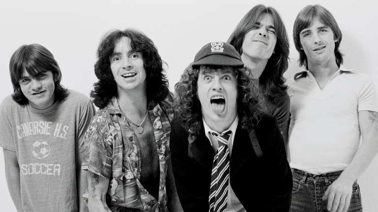 An end to the glory days of Australian music – Albert Music sold to BMG sees the German company now owning the company which brought us Easybeats and AC/DC, pictured here in 1979 Left to right: Malcolm Young, Bon Scott, Angus Young, Cliff Williams and Phil Rudd.