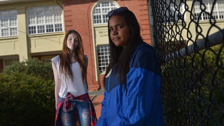 Pavilion school students (left to right) Hannah Gandy and Keisha Atkinson.
