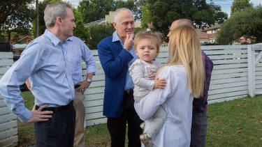 Mr Turnbull used the tax deduction one-year-old Addison Mignacca, of Penshurst, was getting to help her buy a home to justify making no change to negative gearing.