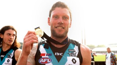 Brad Ebert will remain at Alberton for a further three years.