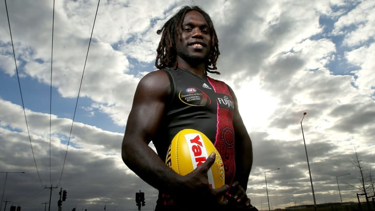 From Melville Island to Tullamarine: Essendon's Anthony McDonald-Tipungwuti.