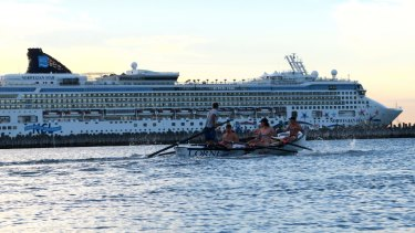 The Norwegian Star was docked at Station Pier, Port Melbourne on Thursday morning.