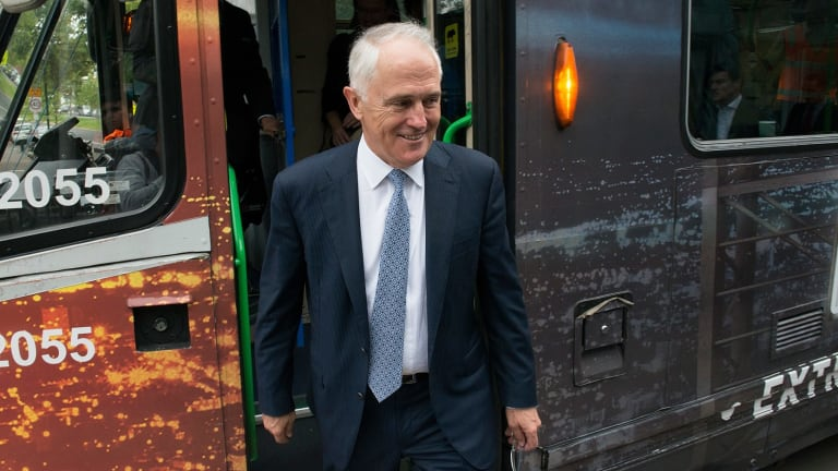 """Prime Minister Malcolm Turnbull says a scoping study will give a """"realistic, costed options on what it takes to be rail ready in 2026""""."""