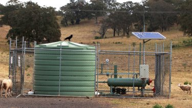 One of AGL's coal seam gas wells near the Nepean River in Camden.