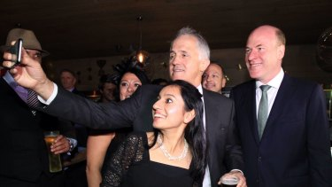 Prime Minister Malcolm Turnbull with Trent Zimmerman.
