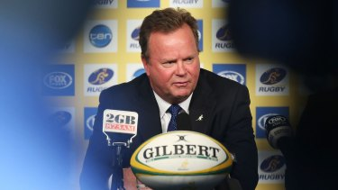 Pressure on the clubs: Bill Pulver announces the new TV deal.
