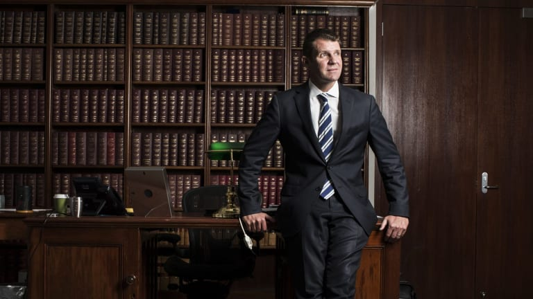 Premier Mike Baird in his office at State Parliament.