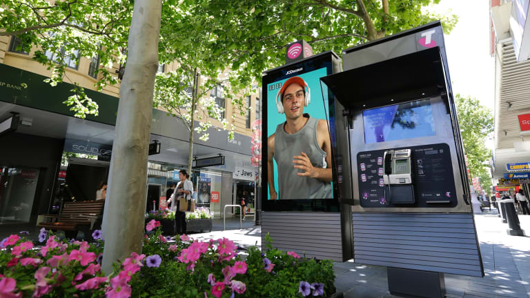 The payphones sit alongside 72-inch digital advertising panels, which will showcase six marketing partners.