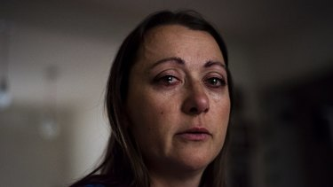 Intensely personal: Ruzicka turned the camera on herself in this image entitled After A Fight.