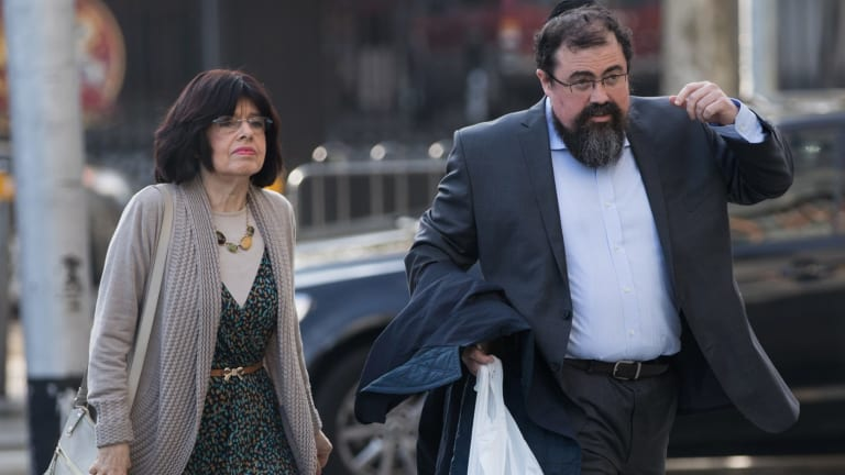 Stera and Mordecai Gutnick at the Federal Court.