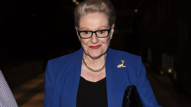 Bronwyn Bishop leaves Dee Why RSL after losing preselection for the seat she has held for more than 20 years.