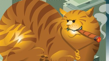 Is your super invested in a Fat Cat fund? Illustration: Matt Davidson