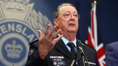 Police Commissioner Ian Stewart announces the appointments.