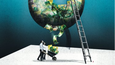 More super funds are offering direct investments to their members. Illustration: Sam Bennett