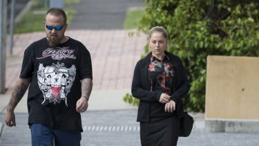 Jay-Leighsa Bauman arrives at Ipswich Magistrates Court.