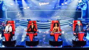 The Voice Australia judges 2018: Joe Jonas, Delta Goodrem, Kelly Rowland and Boy George.