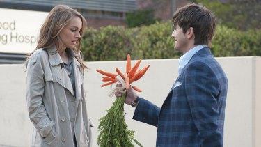 No, she doesn't want your carrots, Ashton.