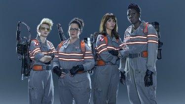Tjhe new Ghostbusters: (from left) Kate McKinnon, Melissa McCarthy, Kristen Wiig and Leslie Jones.