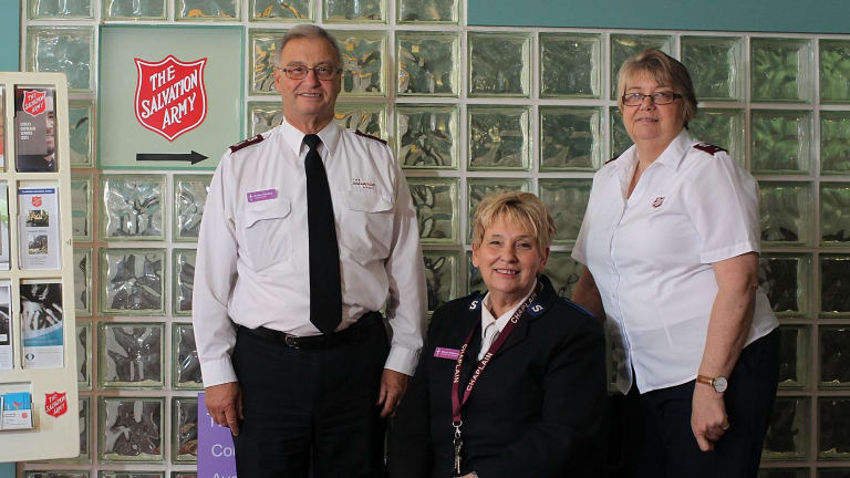 Salvation Army chaplains Andrew Schofield, Sharon Widdowson and Bronwyn Burnett gather at the Downing Centre on most mornings for a chat over a cup of tea.