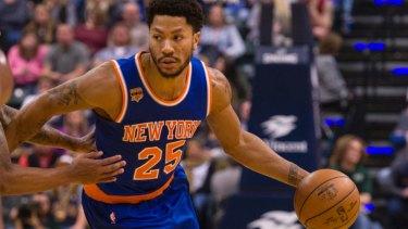 6d3bd61e3e7 Absent  New York Knicks guard Derrick Rose was a no-show for the match
