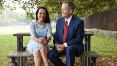 """""""It's about being able to affect people's lives at a federal level"""": Linda Burney with Bill Shorten."""