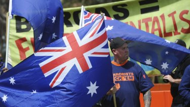 Reclaim Australia national rally on Parliament House Lawns was the first in a series of globally coordinated Anti-Islam protests