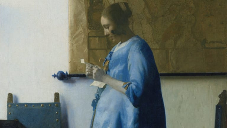 """Johannes Vermeer's """"Woman Reading a Letter"""" is on loan to the Art Gallery of NSW."""