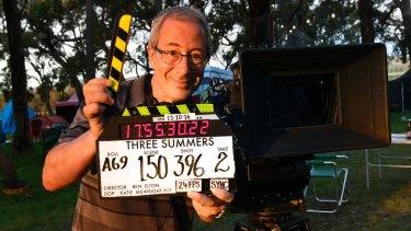 Ben Elton on the set of <i>Three Summers</i>.