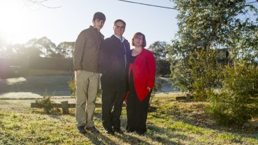 Zac Wiks,13, and parents Anthony Wicks and Stella Maoudis, of Farrer are concerned plans will overshadow their house.