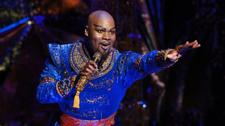 Michael James Scott is nominated for best supporting actor in a musical for his role as the Genie in <i>Aladdin</i>.