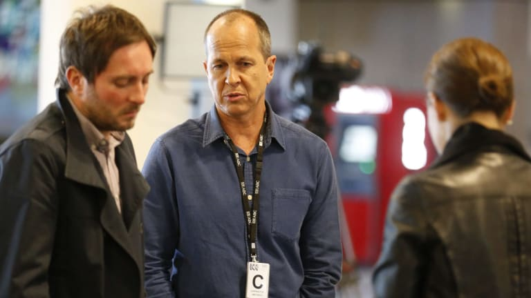 Australian journalist Peter Greste holds a news conference on Sunday to give his response to the Egyptian court retrial guilty verdict.