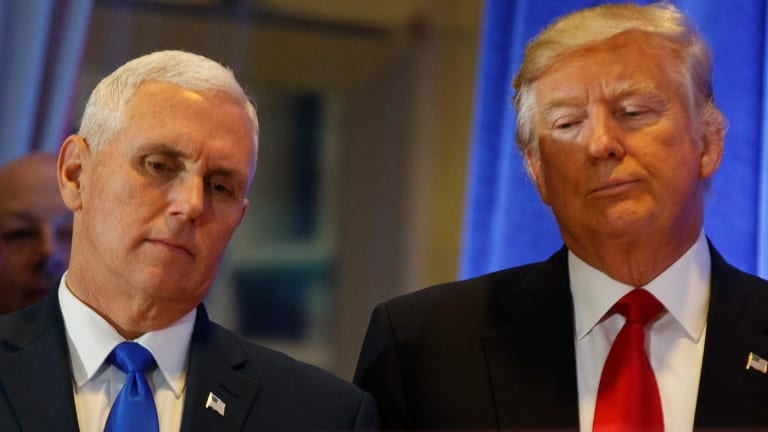 President-elect Donald Trump with Vice President-elect Mike Pence.