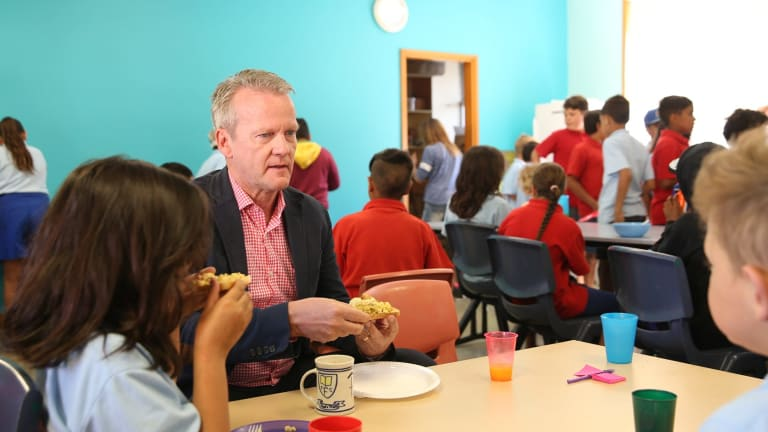 Professor Pasi Sahlberg is full of praise for Walgett public school in the country town of northern NSW where he attended their Breakfast Club.
