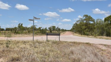 The remote road where Jayden Penno-Tompsett went missing.