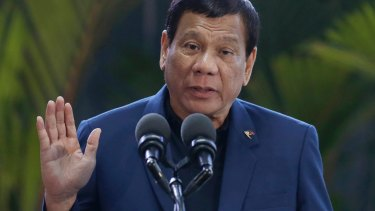 Philippine President Rodrigo Duterte said the police chief was on his way home when militants stopped him at a check-point.